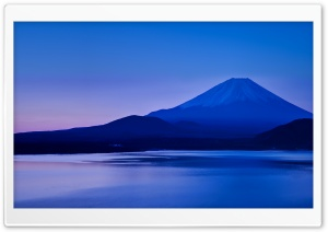 Lake Motosu and Mount Fuji HD Wide Wallpaper for Widescreen
