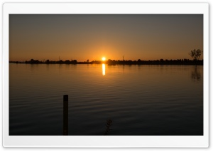 Lake Mulwala Sunrise HD Wide Wallpaper for Widescreen