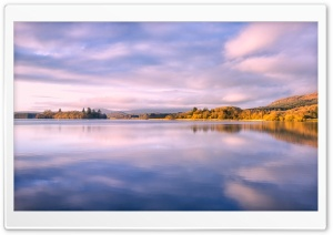 Lake Of Menteith, Autumn HD Wide Wallpaper for 4K UHD Widescreen desktop & smartphone
