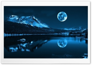 Lake on the Moon Ultra HD Wallpaper for 4K UHD Widescreen desktop, tablet & smartphone