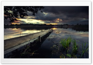 Lake Pontoon HD Wide Wallpaper for Widescreen