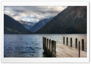 Lake Pontoon, New Zealand HD Wide Wallpaper for 4K UHD Widescreen desktop & smartphone