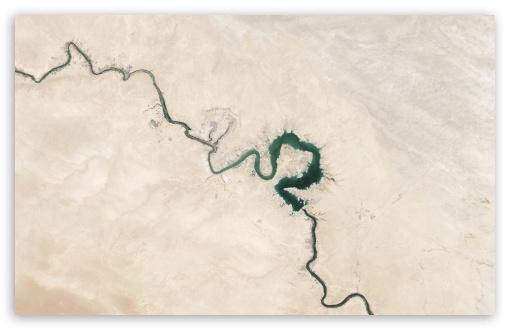 Download Lake Qadisiyah Iraq Earth View from Space HD Wallpaper