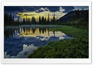 Lake Reflections At Sunset HD Wide Wallpaper for Widescreen