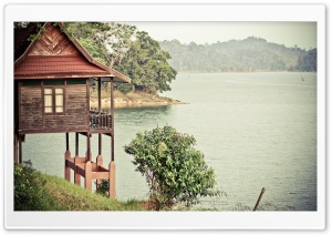 Lake View from Lake Kenyir Resort HD Wide Wallpaper for 4K UHD Widescreen desktop & smartphone