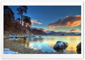 Lake, Winter HD Wide Wallpaper for Widescreen