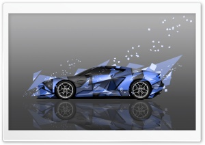 Lamborghini Asterion Side Abstract Aerography Car design by Tony Kokhan HD Wide Wallpaper for 4K UHD Widescreen desktop & smartphone