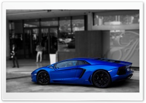 Lamborghini Aventador Blue HD Wide Wallpaper for Widescreen