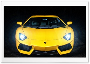 Lamborghini Aventador Headlights On HD Wide Wallpaper for 4K UHD Widescreen desktop & smartphone