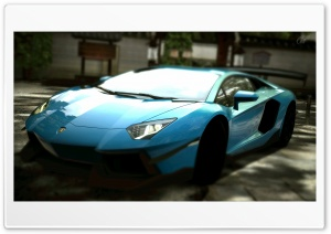 Lamborghini Aventador LP700-4 Blue HD Wide Wallpaper for Widescreen