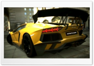 Lamborghini Aventador LP700-4 Inca Gold Yellow HD Wide Wallpaper for Widescreen