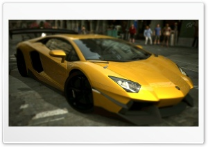 Lamborghini Aventador LP700-4 Inca Gold Yellow HD Wide Wallpaper for 4K UHD Widescreen desktop & smartphone