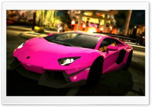 Lamborghini Aventador LP700-4 Pink Passionate HD Wide Wallpaper for Widescreen
