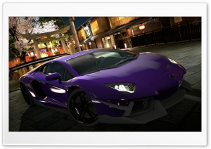 Lamborghini Aventador LP700-4 Purple HD Wide Wallpaper for Widescreen