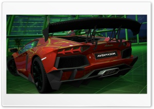 Lamborghini Aventador LP700-4 Red HD Wide Wallpaper for Widescreen
