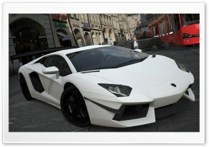 Lamborghini Aventador LP700-4 White HD Wide Wallpaper for Widescreen