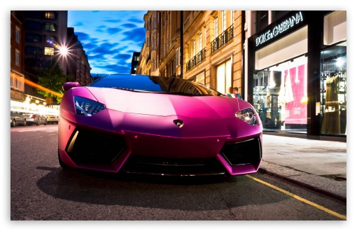 Download Lamborghini Aventador LP760 4 Pink HD Wallpaper