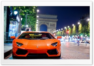 Lamborghini Aventador Night Shot HD Wide Wallpaper for Widescreen