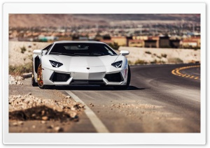 Lamborghini Aventador Roadside HD Wide Wallpaper for Widescreen