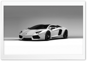 Lamborghini Aventador White HD Wide Wallpaper for Widescreen
