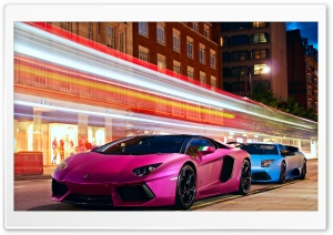 Lamborghini Cars City HD Wide Wallpaper for Widescreen