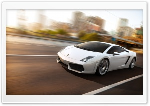 Lamborghini Gallardo LP560 White HD Wide Wallpaper for Widescreen