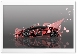 Lamborghini Gallardo Side Abstract Aerography Car design by Tony Kokhan HD Wide Wallpaper for Widescreen