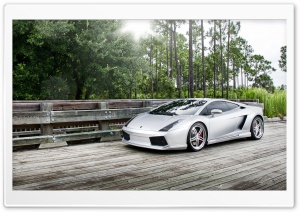 Lamborghini Gallardo Silver HD Wide Wallpaper for Widescreen