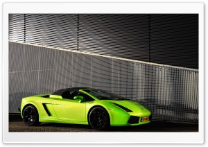 Lamborghini Gallardo Spyder Green HD Wide Wallpaper for Widescreen