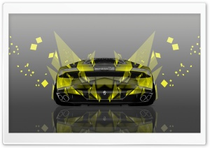 Lamborghini Huracan Back Abstract Aerography Car design by Tony Kokhan HD Wide Wallpaper for Widescreen