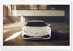 Lamborghini Huracan LP610-4 White Color HD Wide Wallpaper for Widescreen