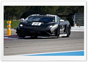 Lamborghini in Action HD Wide Wallpaper for Widescreen