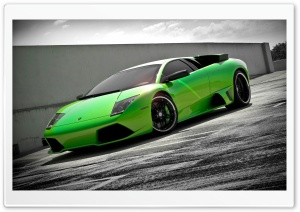 Lamborghini Murcielago Green HD Wide Wallpaper for Widescreen