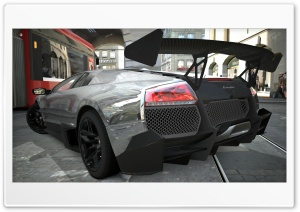 Lamborghini Murcielago LP670-4 Chrome HD Wide Wallpaper for Widescreen