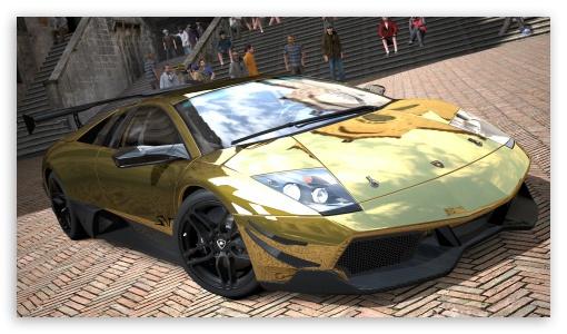 Lamborghini Murcielago LP670-4 SV Gold HD wallpaper for HD 16:9 High Definition WQHD QWXGA 1080p 900p 720p QHD nHD ; UHD 16:9 WQHD QWXGA 1080p 900p 720p QHD nHD ; Mobile 16:9 - WQHD QWXGA 1080p 900p 720p QHD nHD ;