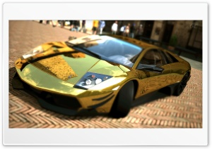 Lamborghini Murcielago LP670-4 SV Gold HD Wide Wallpaper for Widescreen