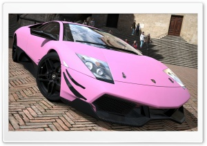 Lamborghini Murcielago LP670-4 SV Matte Pink HD Wide Wallpaper for Widescreen