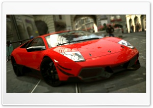 Lamborghini Murcielago LP670-4 SV Red HD Wide Wallpaper for Widescreen