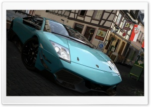 Lamborghini Murcielago LP670-4 SV Turquesa HD Wide Wallpaper for Widescreen