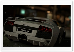 Lamborghini Murcilago Rear HD Wide Wallpaper for Widescreen