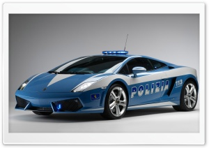 Lamborghini Police Car HD Wide Wallpaper for Widescreen