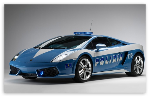 Lamborghini Police Car HD wallpaper for Wide 16:10 5:3 Widescreen WHXGA WQXGA WUXGA WXGA WGA ; HD 16:9 High Definition WQHD QWXGA 1080p 900p 720p QHD nHD ; Mobile 5:3 16:9 - WGA WQHD QWXGA 1080p 900p 720p QHD nHD ;