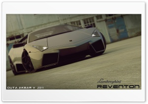 Lamborghini Reventon 3D Max HD Wide Wallpaper for Widescreen