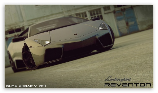 Lamborghini Reventon 3D Max HD wallpaper for HD 16:9 High Definition WQHD QWXGA 1080p 900p 720p QHD nHD ; Mobile PSP - Sony PSP Zune HD Zen ;