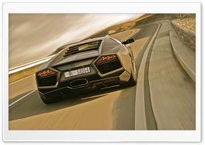 Lamborghini Reventon On Road HD Wide Wallpaper for Widescreen