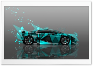 Lamborghini Sesto Elemento Abstract Aerography Car design by Tony Kokhan HD Wide Wallpaper for Widescreen