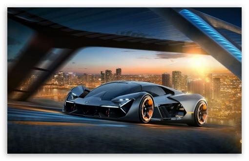 Download Lamborghini Terzo Millennio Electric Hypercar HD Wallpaper