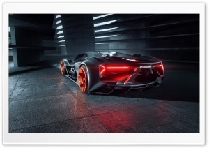 Lamborghini Terzo Millennio Electric Hypercar Rear Ultra HD Wallpaper for 4K UHD Widescreen desktop, tablet & smartphone