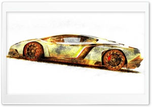 Lamborghini Veneno Gold Edition HD Wide Wallpaper for Widescreen