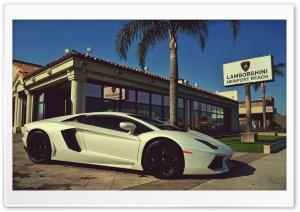 Lamborghini white HD Wide Wallpaper for 4K UHD Widescreen desktop & smartphone